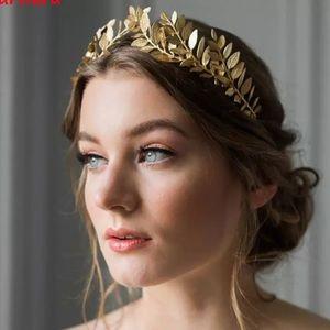 BHLDN STYLE rose Gold wedding leaf headband tiara